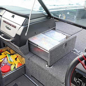 Pro-V Limited Port Console Storage Drawers Open
