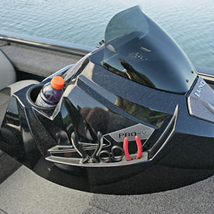 Pro-V-Bass-Bench-Optional-Port-Console-with-Integrated-Tool-Holder-and-Cup-Holder