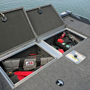 Pro-V-Bass-Bench-Starboard-Aft-Deck-Storage-Compartments-Open