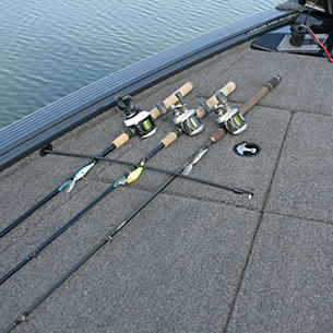 Pro-V Bass Bow Deck Port Rod Straps