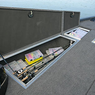 Pro-V Bass Bow Deck Port Storage Compartments with Optional Rod Storage