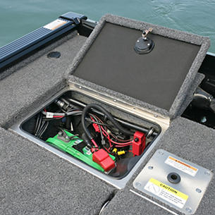 Pro-V Bass XS Aft Deck Battery Storage Compartment