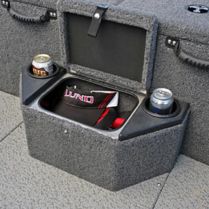 Pro-V Bass XS Aft Deck Step Storage and Cup Holder