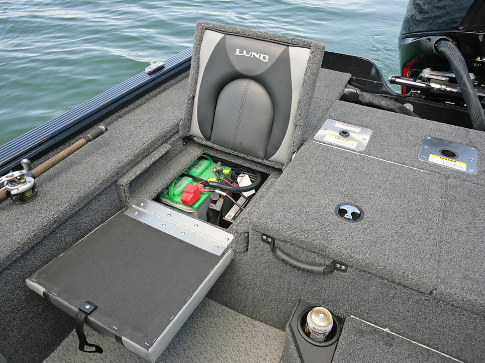 Pro-V Bass XS Starboard Under Jump Seat Battery Storage