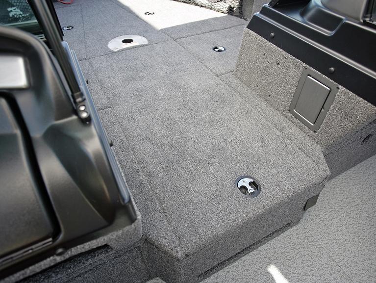 Pro-V Center Rod Locker Storage Compartment Closed