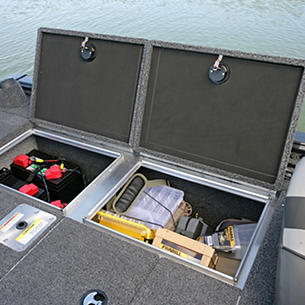 Pro-V-Musky-Aft-Deck-Port-Storage-Compartment-Open