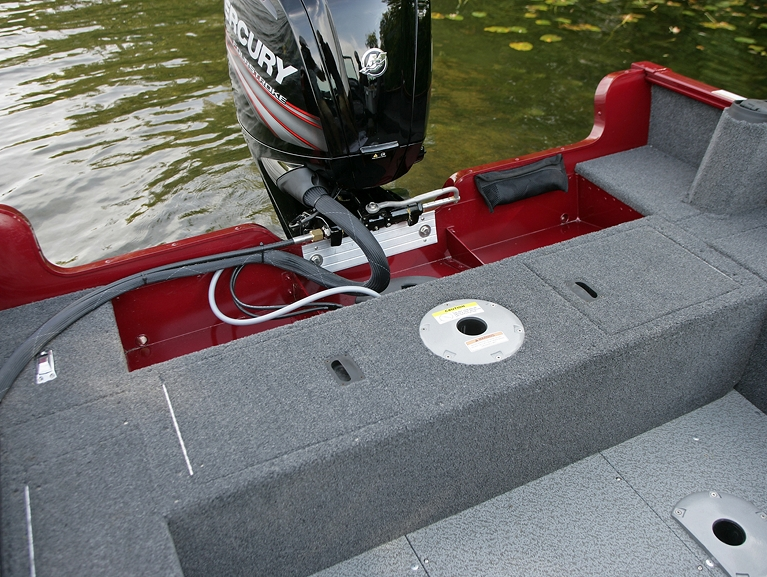 Rebel XL Sport-SS Aft Deck Storage Compartments Closed