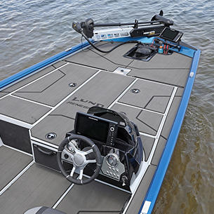Renegade Bow Deck shown with Optional Stick-On Marine Mat