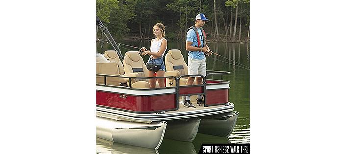 SF232WT fishing pontoon boat