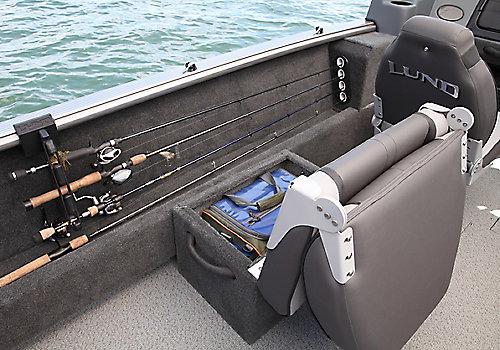 Sport Angler Optional Side Seat Storage Open