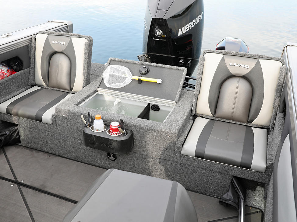 Tyee Aft Platform with Jump Seats and Livewell Open