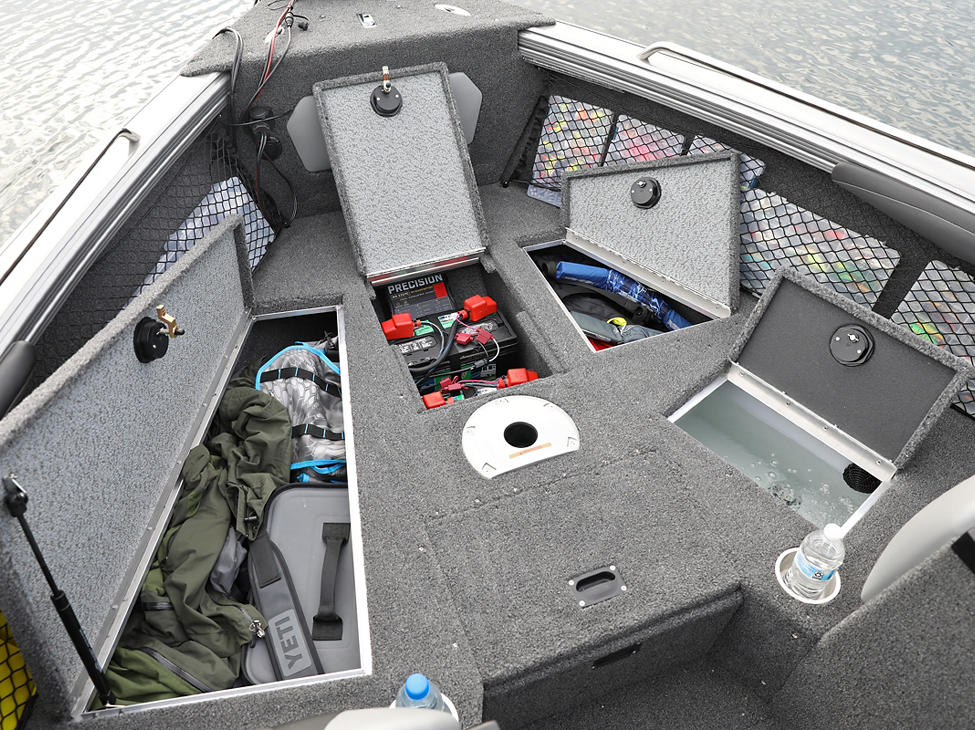 Tyee Bow Deck Compartments Open