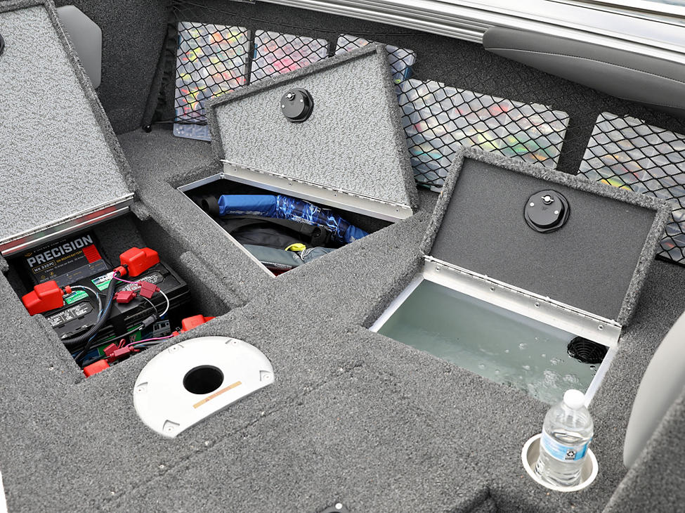 Tyee Bow Deck Starboard Storage Compartments Open