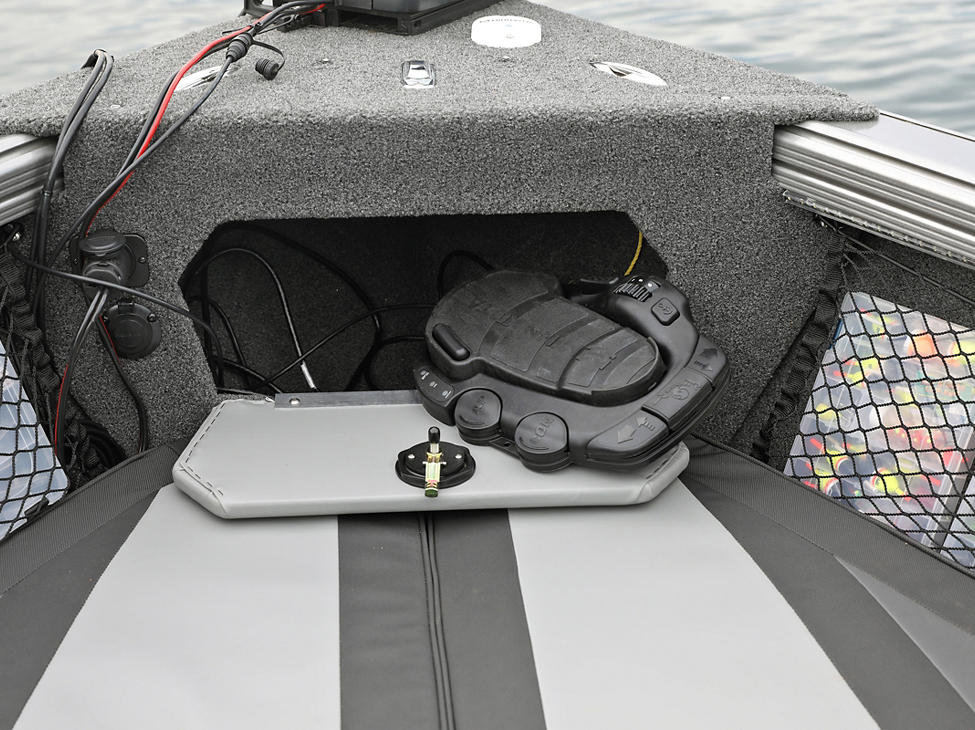 Tyee Bow Storage Compartment Open