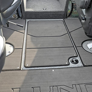 Tyee In-Floor Rod Storage Compartment Closed (Shown with Optional Marine Mat)