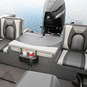 Tyee Optional Aft Deck Sun Pad with Jump Seats Open