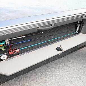 Tyee Port Rod Storage Compartment Open