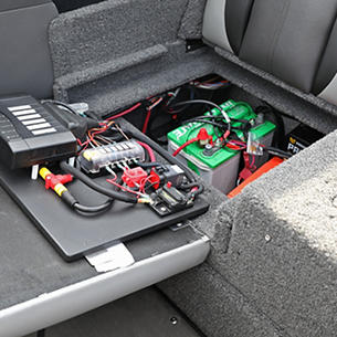 Tyee Starboard Aft Jump Seat Battery Storage Compartment