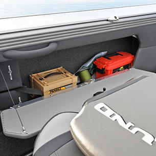 Tyee Starboard Storage Compartment Open