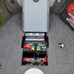 Tyee Bow Deck Battery Storage Compartment