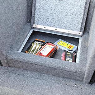 Tyee Center Step Storage Gray Interior - Open