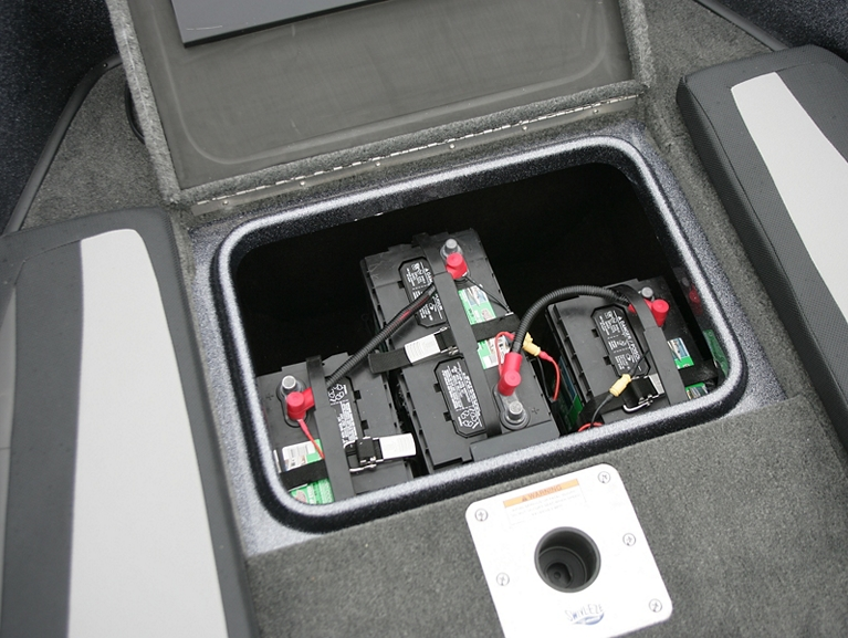 Tyee GL Bow Deck Battery Storage Compartment