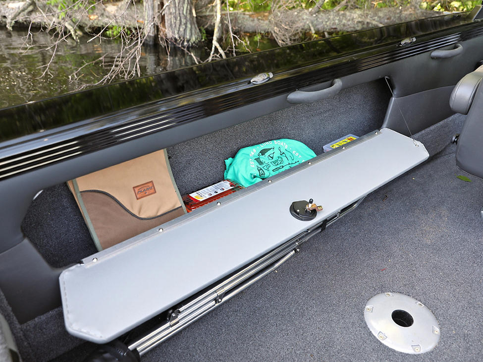 Tyee Port Side Storage Compartment Gray Interior - Open