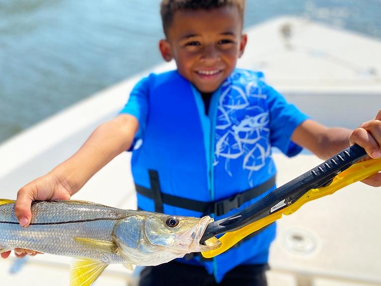 Kid Caught a Big Fish