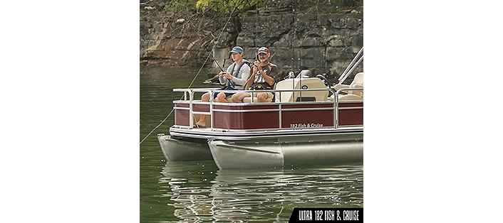 Ultra 182 fish and cruise pontoon