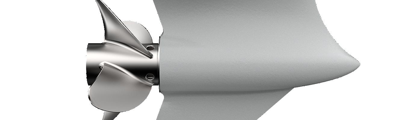 Mercury 400r propeller side