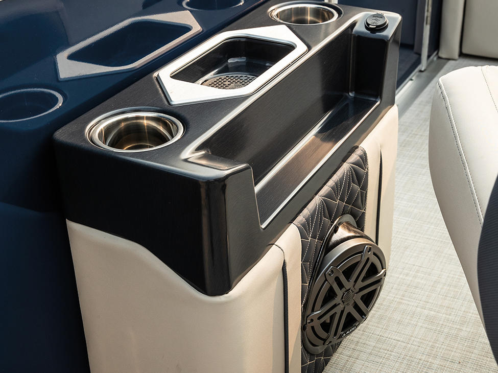 Grand Mariner SLDH Port Side Caddy with Wireless Charger and Speaker.