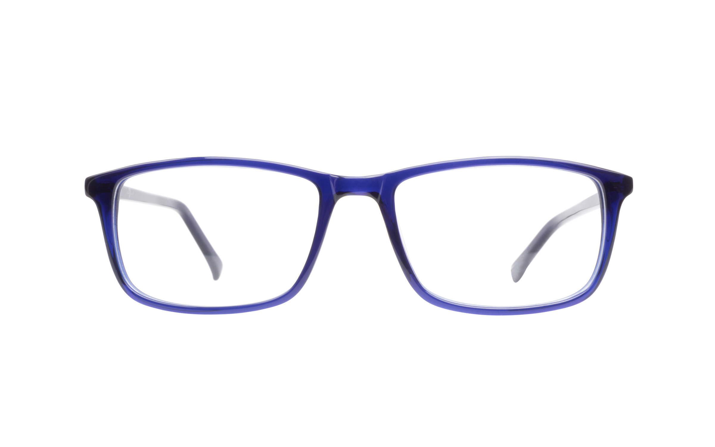 7 For All Mankind 750 Indigo eyeglasses are casually basic. This straightforward rectangular style comes in a deep indigo blue crystal acetate for an understated finish. The thin lightweight temples are polished and unembellished engraved with 7 For All Mankind branding at the tips.