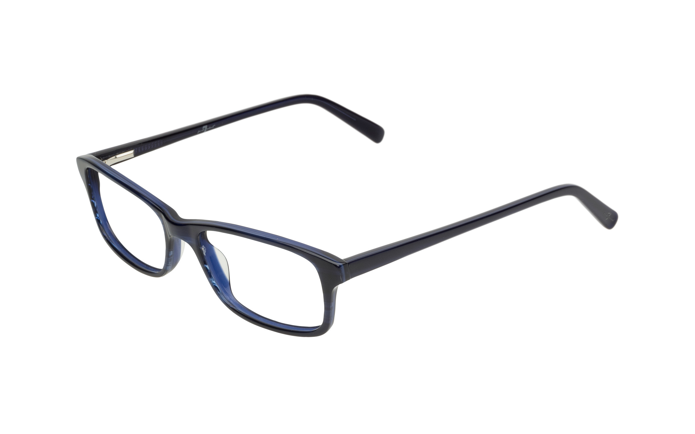 7 for All Mankind Glasses Rectangular Blue Acetate Online Clearly
