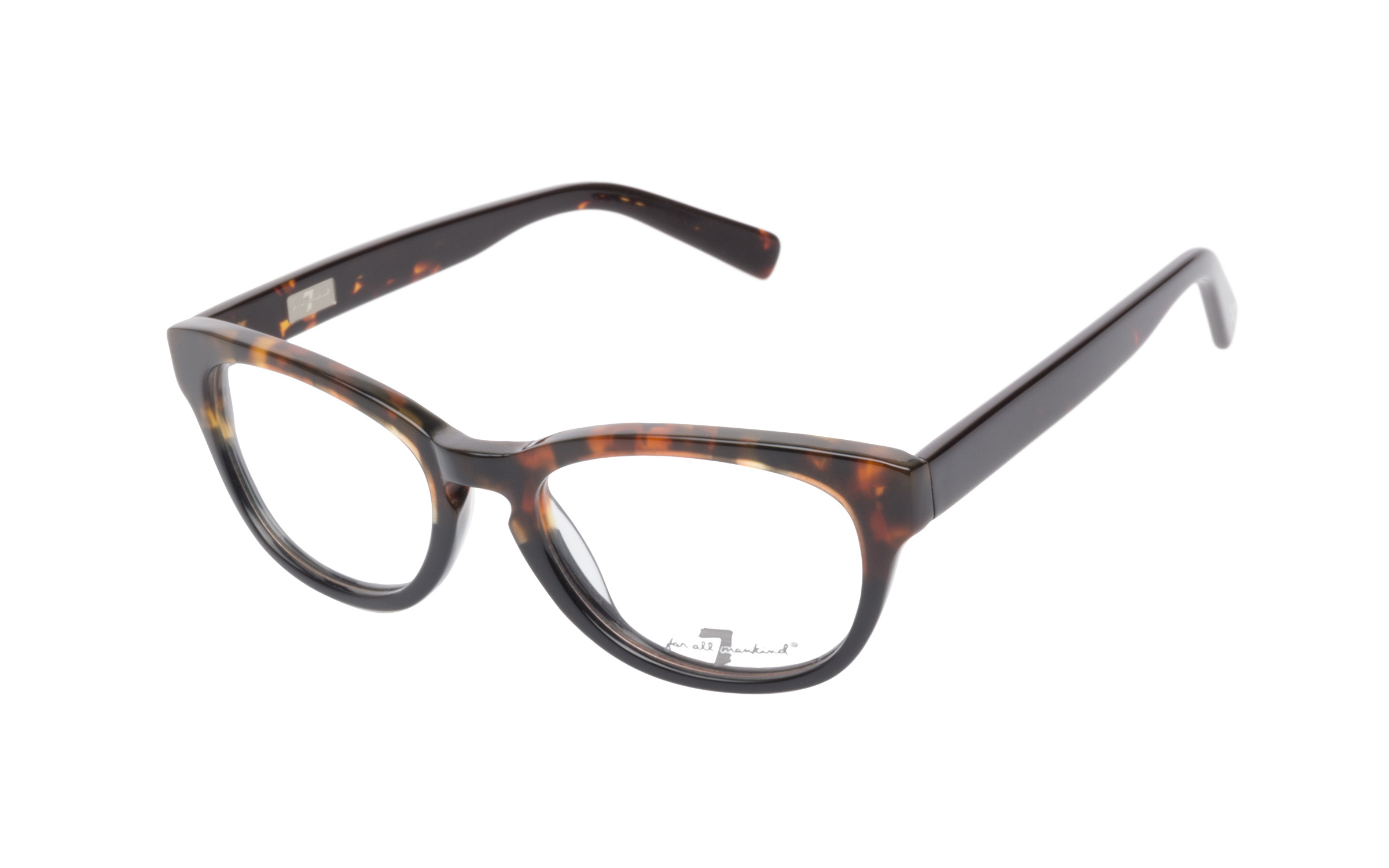 7 for All Mankind Women's Glasses Cat-Eye Brown/Tortoise Online Clearly