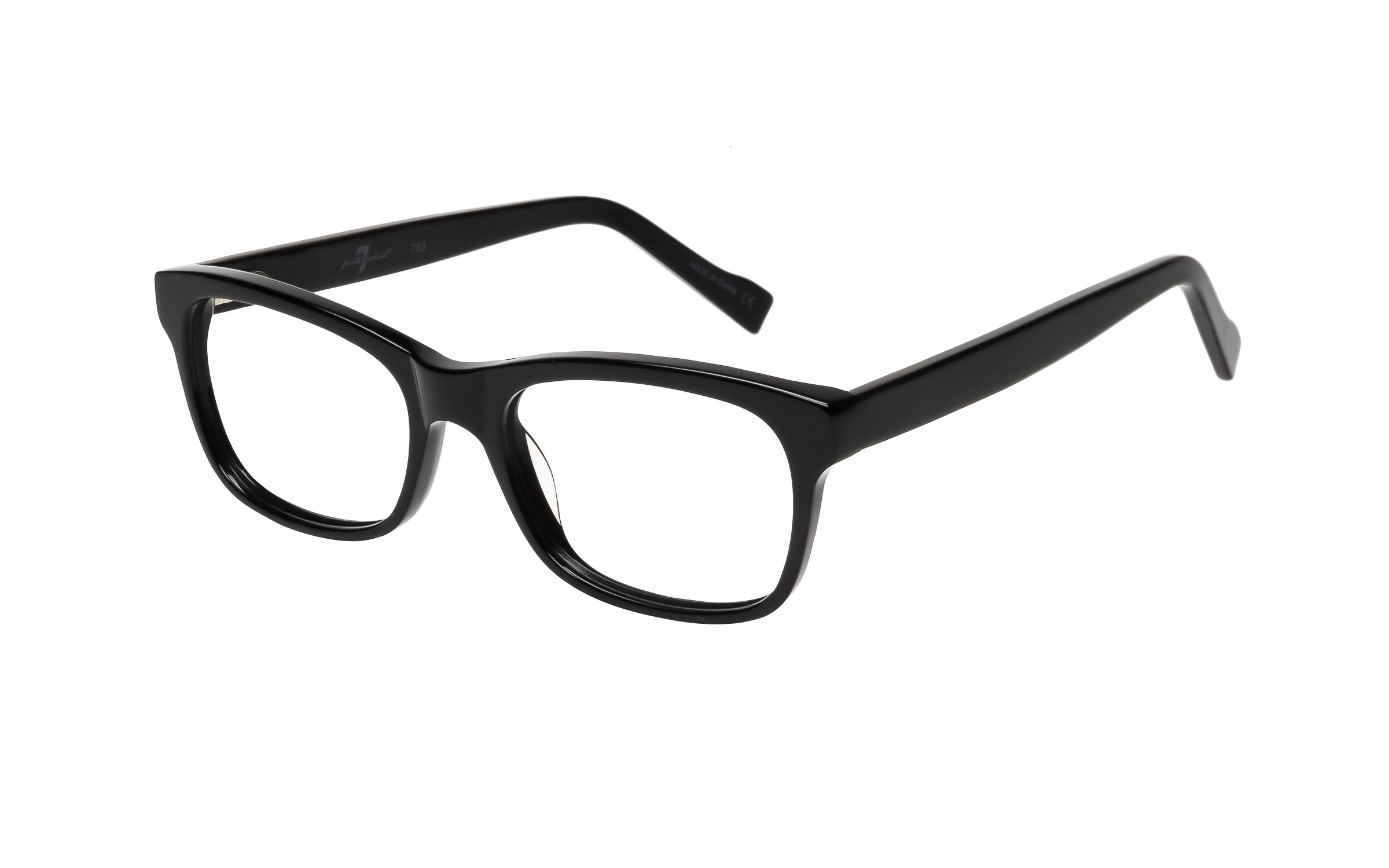 7 for All Mankind Glasses Rectangular Black Acetate Online Clearly