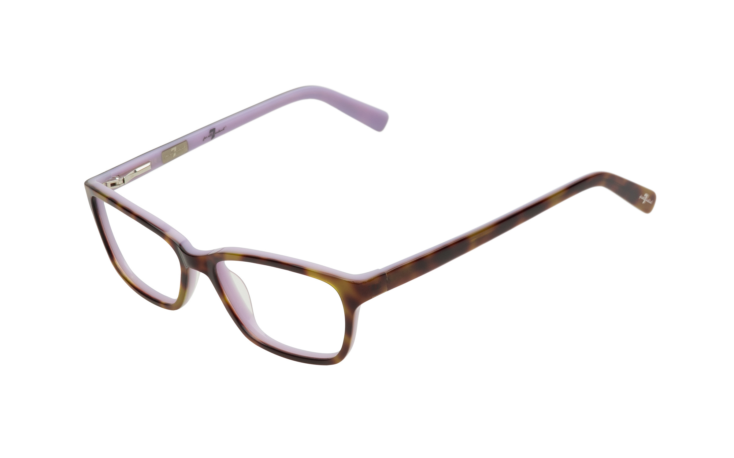 7 for All Mankind Glasses Round Purple Acetate Online Clearly