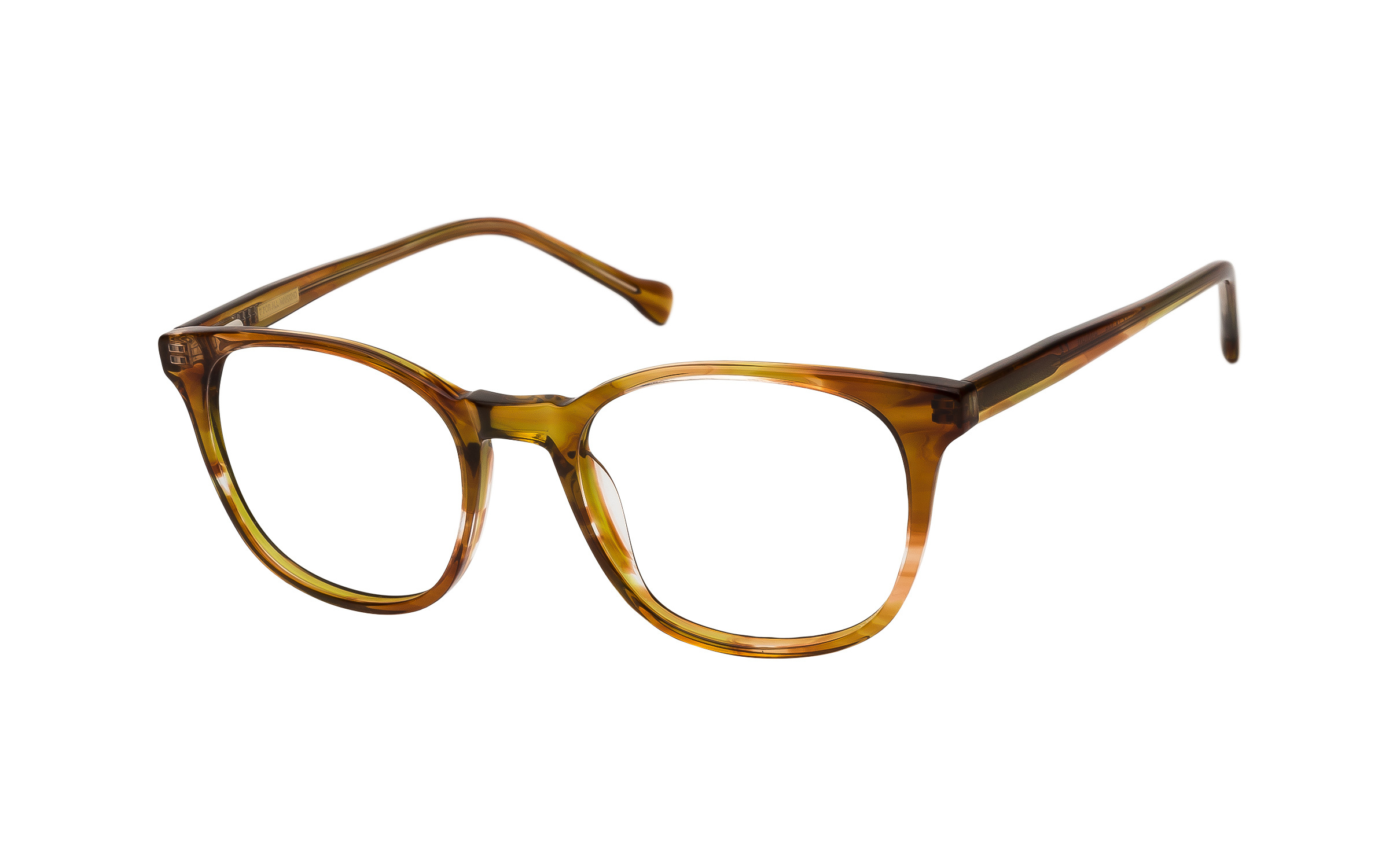 7 for All Mankind Glasses D-Frame Yellow/Brown/Clear Acetate Online Clearly
