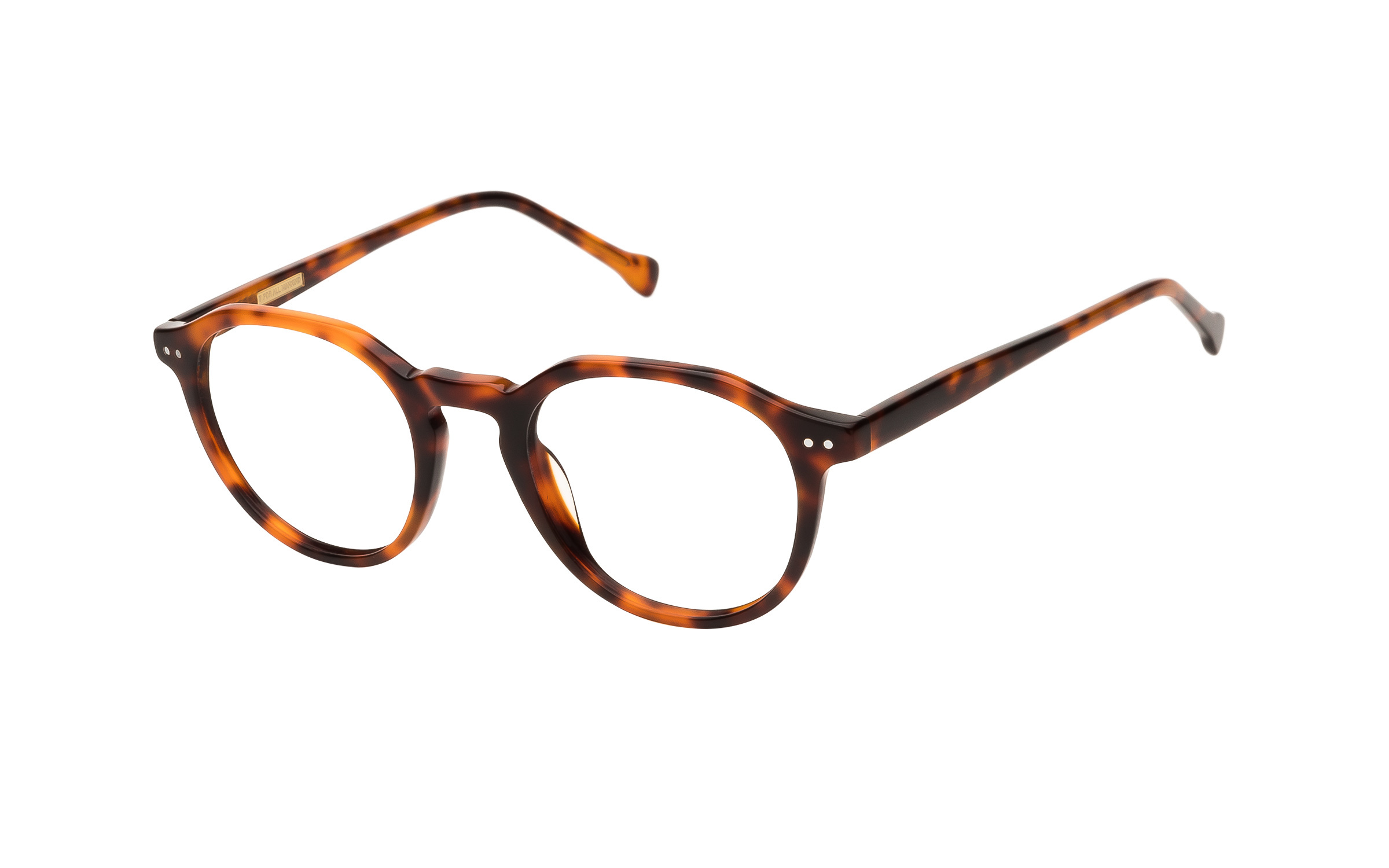 7 for All Mankind Glasses Round Tortoise/Brown Online Clearly