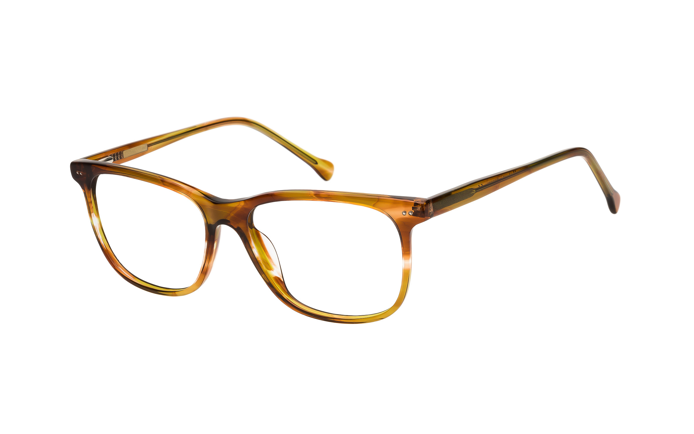 7 for All Mankind Glasses D-Frame Brown/Yellow/Clear Online Clearly