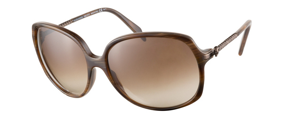 product image of Alexander McQueen AMQ4171S Walnut Brown