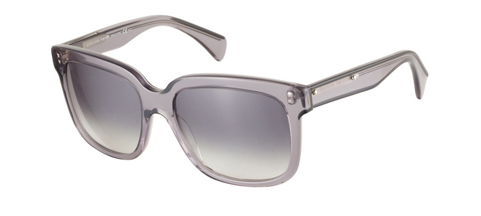 product image of Alexander McQueen AMQ4213S-55 Black Grey Transparent