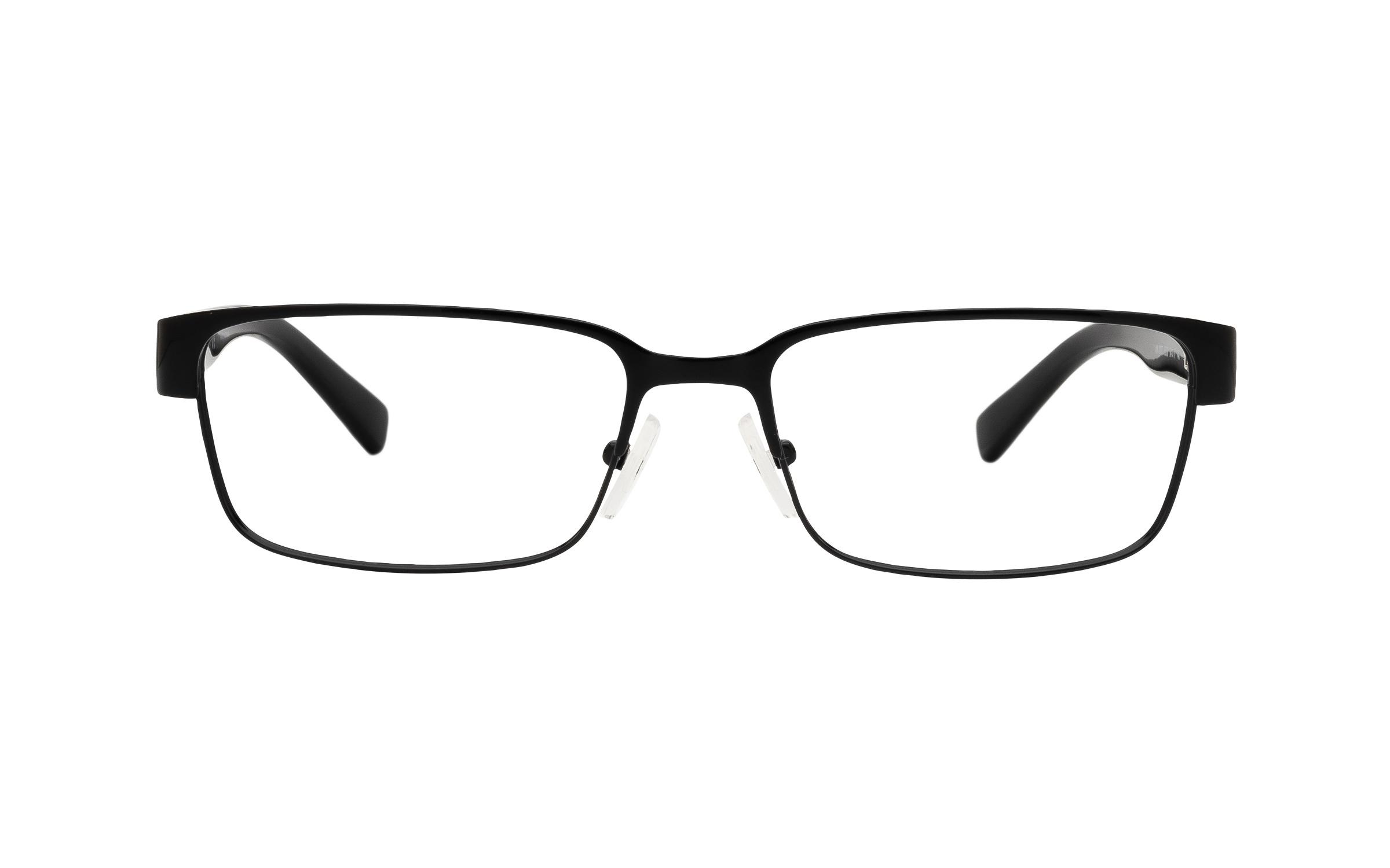 Armani Exchange AX1017 6000 (54) Eyeglasses and Frame in Shiny Black | Acetate - Online Coastal