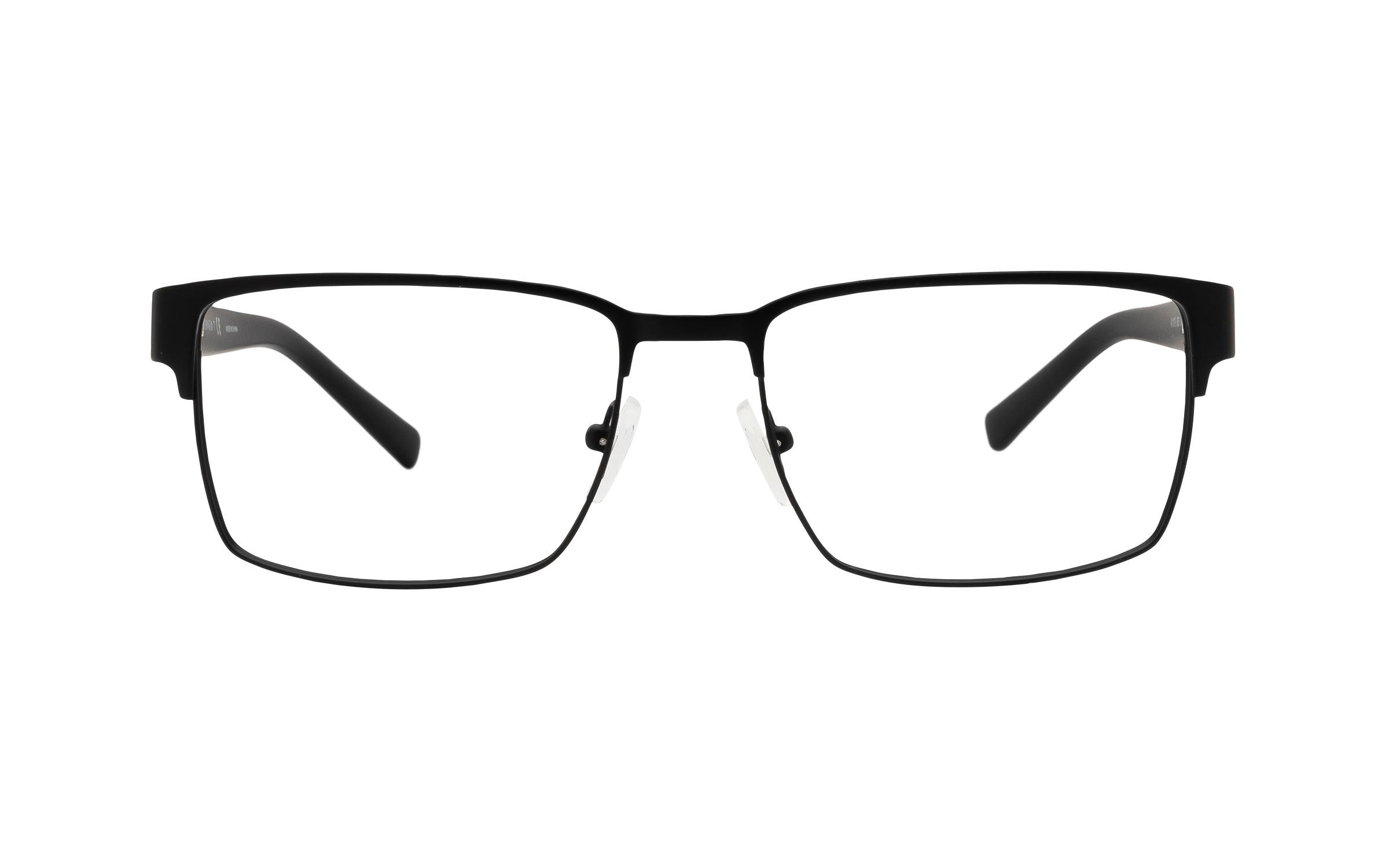 Armani Exchange AX1019 6063 (54) Eyeglasses and Frame in Matte Black | Acetate/Metal - Online Coastal