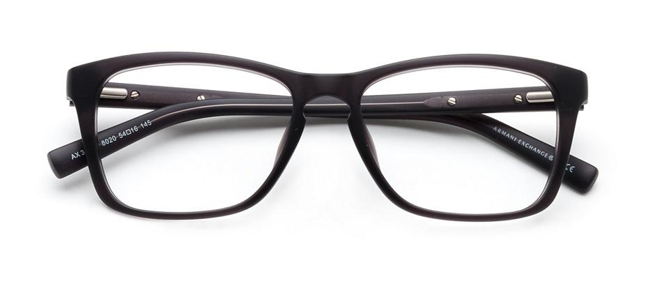 product image of Armani Exchange AX3012-F-54 Matte Black Transparent