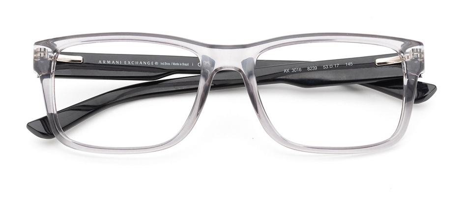 product image of Armani Exchange AX3016-53 Shiny Transparent Grey