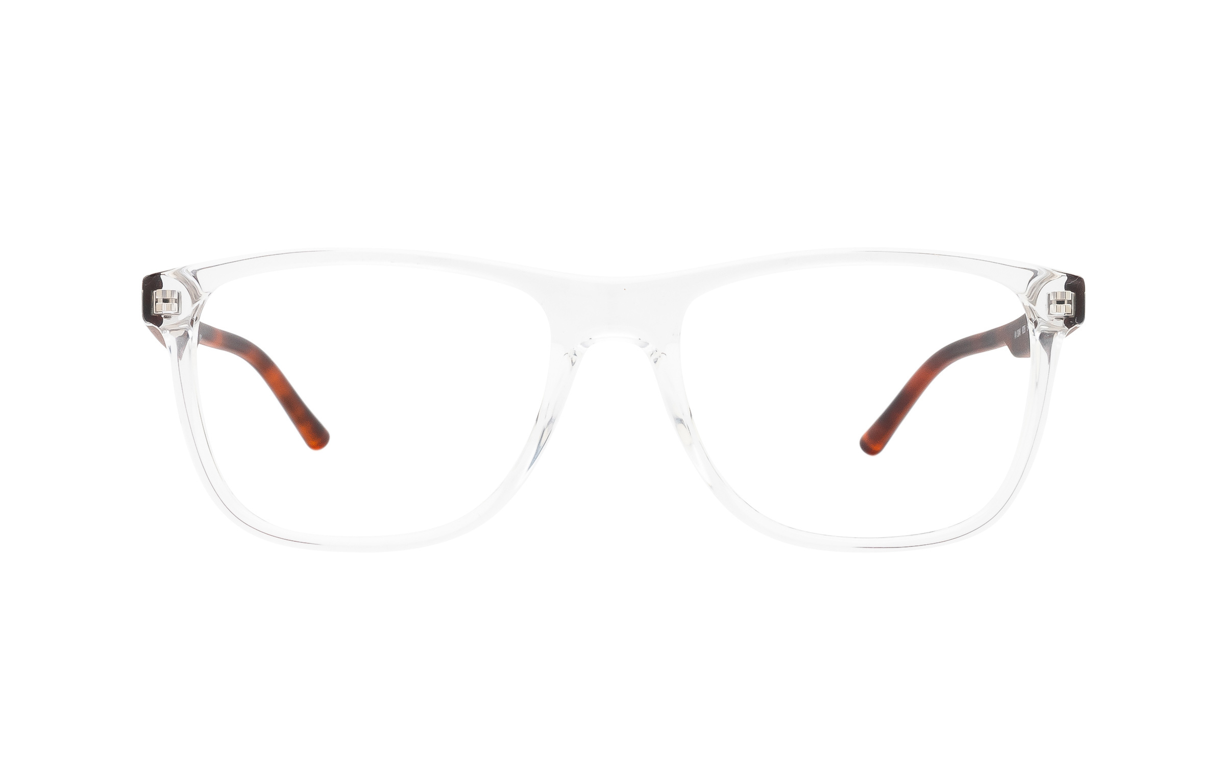 http://www.coastal.com/ - Armani Exchange AX3048 8235 (54) Eyeglasses and Frame in Shiny Crystal Clear – Online Coastal