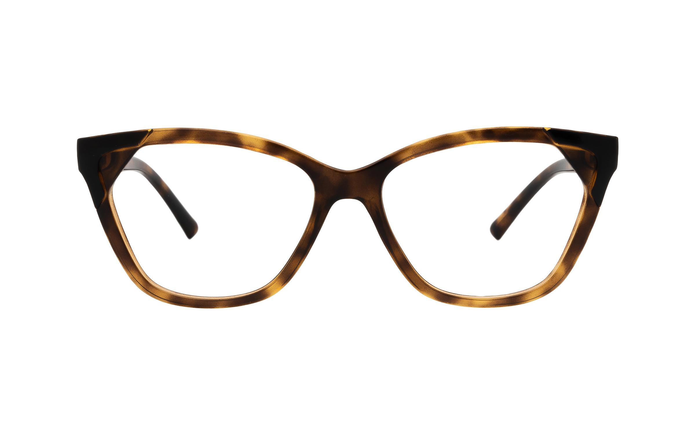 Armani Exchange AX3059 8224 (54) Eyeglasses and Frame in Shiny Havana Tortoise/Brown | Acetate - Online Coastal