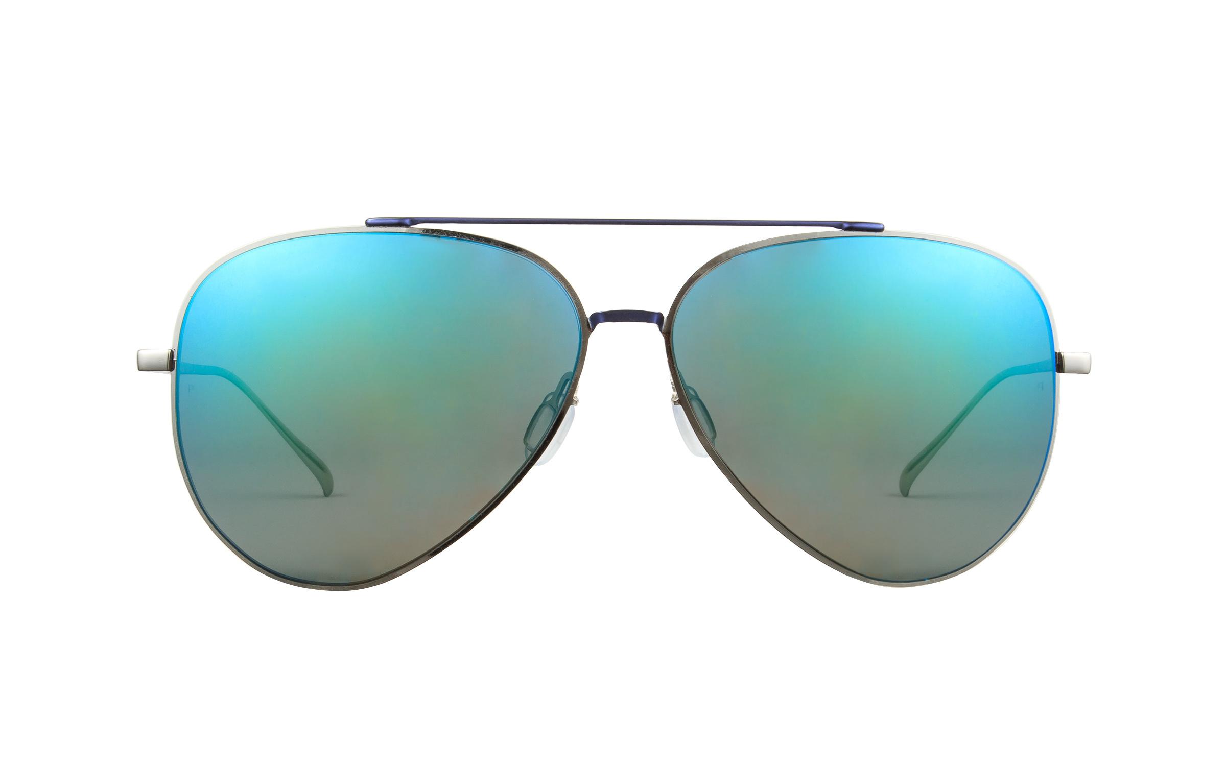 Bolon BL8002 D70 Silver Blue Polarized Sunglasses