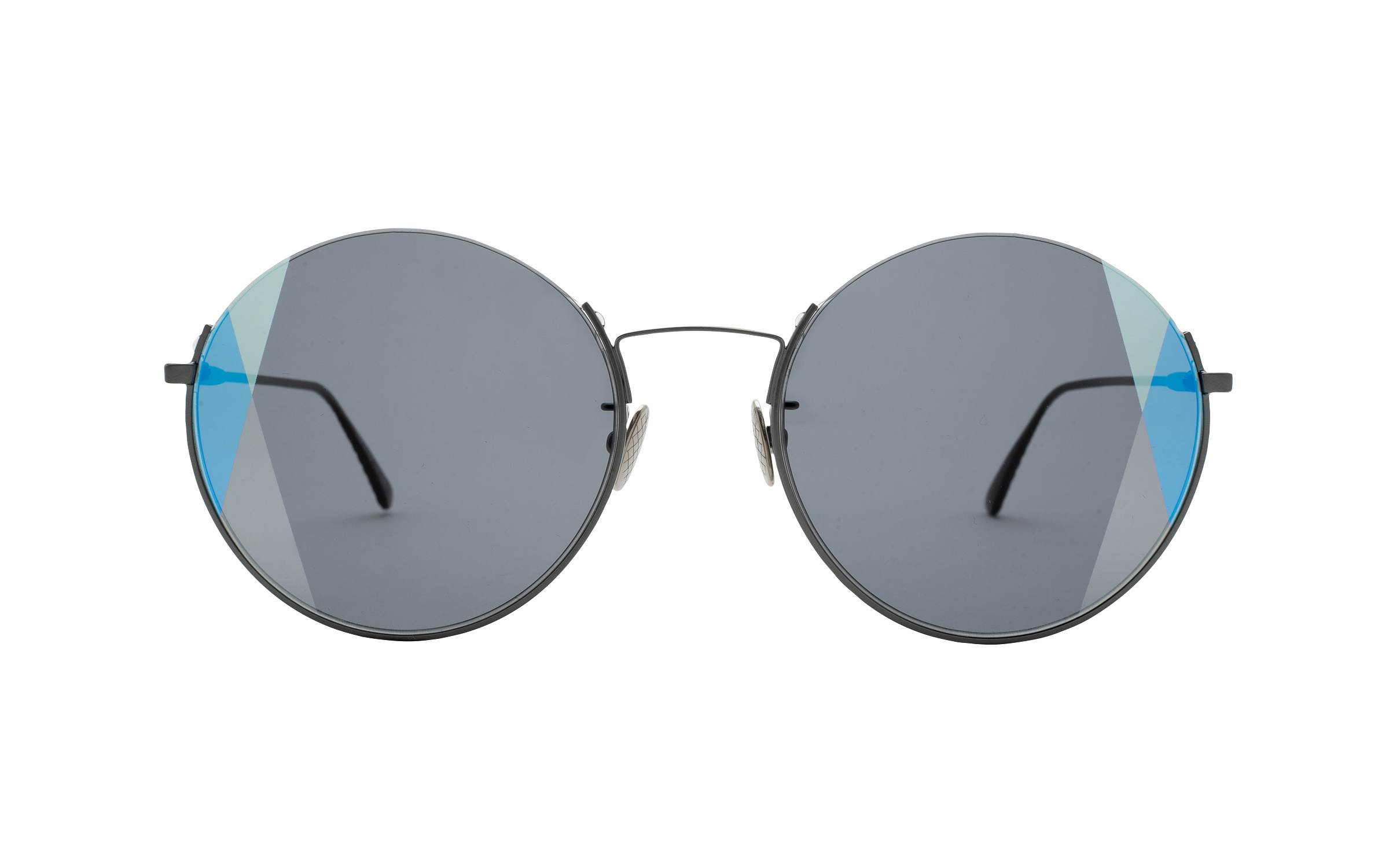 http://www.coastal.com/ - Bottega BV0246S 001 57 Sunglasses in Ruthenium Black – Online Coastal