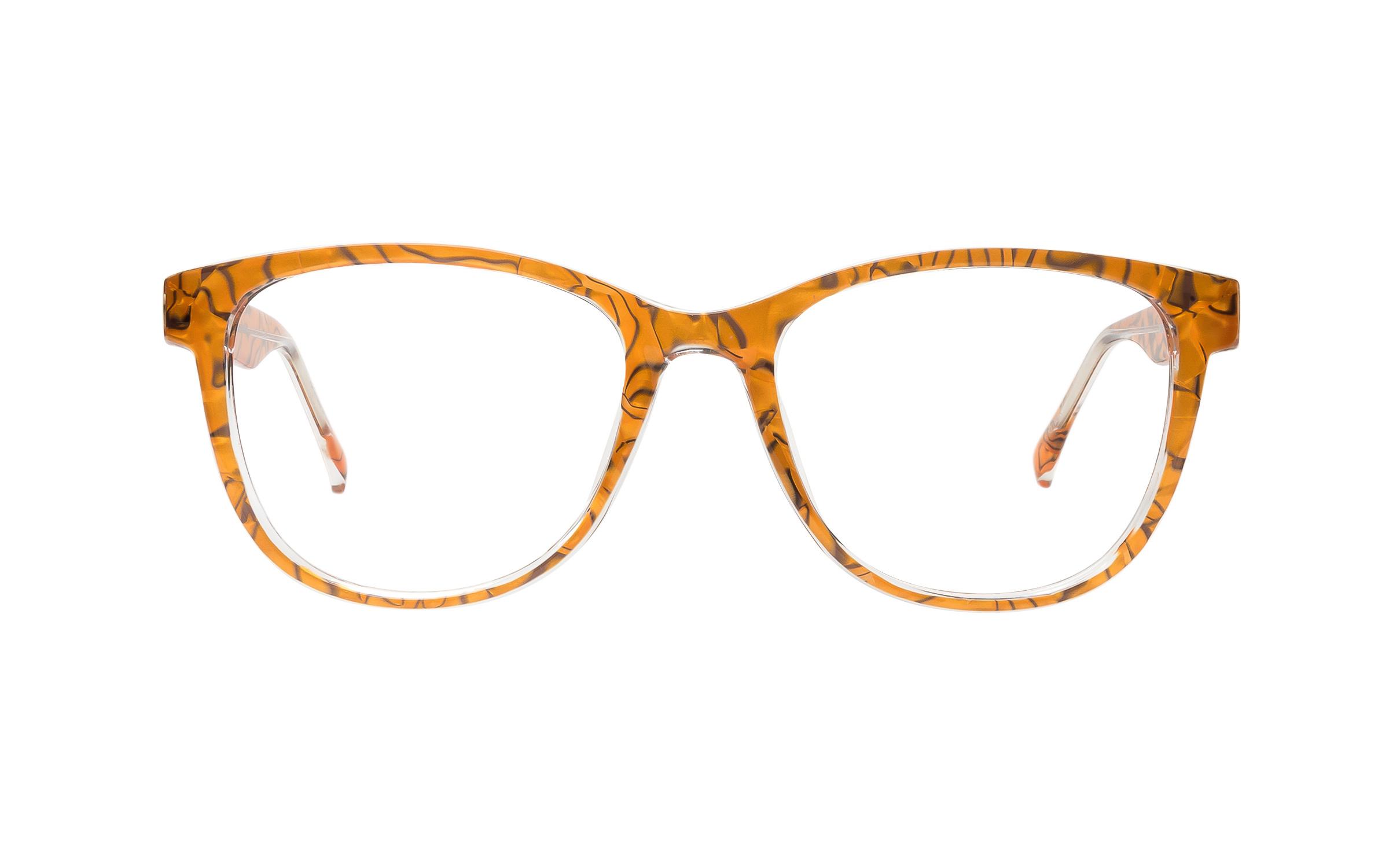 Clearly Basics Cormorant 3004 C2 (54) Eyeglasses and Frame in Tigers Eye Orange/Black | Plastic